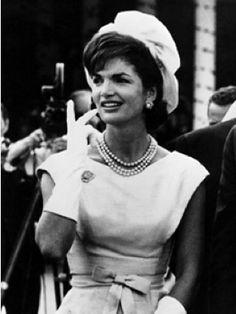 Jaqueline Kennedy's beautiful cream hat