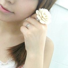 Aliexpress.com : Buy 71186 accessories beautiful cream petals camellia adjustable elastic ring female from Reliable smile ring suppliers on Jessie's shop. $11.09