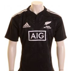 1e70c1b3 Adidas New Zealand Maori All Blacks Rugby Shirt Black and White - £65.00 at  ShopRugby