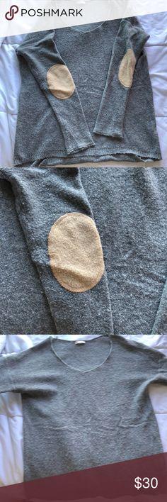 Gap oversized grey sweater/ shirt Gap sweater. Soft knit material. Cute elbow pads. Flowy. Can be worn as a sweater or as a shirt GAP Sweaters Crew & Scoop Necks