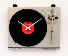 This record-player clock. | Community Post: 33 Things That Belong In Every Music Lover's Home