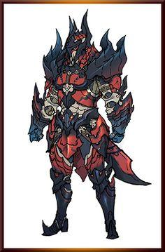 Glavenus/Dinovaldo male gunner armor set