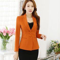 Designer Slim Blazers Women High Quality Office Lady Suit Plus Size Blazer Coat Tailleur Femme Business Suit Women Price history. Blazers For Women, Suits For Women, Clothes For Women, Blazer Outfits, Blazer Fashion, Women's Fashion Dresses, Skirt Fashion, Plus Size Blazer, Mode Hijab