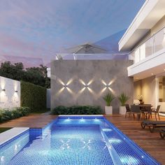 New Design Layout Architecture Pools 56 Ideas Swimming Pool Lights, Swimming Pool Designs, Backyard Ideas For Small Yards, Modern Backyard, Piscina Interior, Garden Architecture, Patio Lighting, Garden Landscape Design, Garden Seating