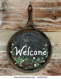 stock photo : Old fashioned WELCOME sign