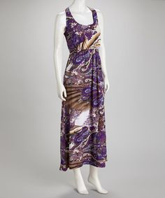 Take a look at this Purple Sleeveless Maxi Dress by jon & anna on #zulily today! $18.99, regular 38.00