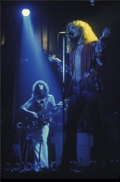 Jimmy Page and Robert Plant Stairway to Heaven Photographer: Bob Gruen