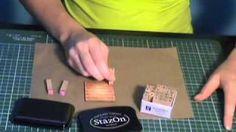 scrapbooking techniques en francais - YouTube