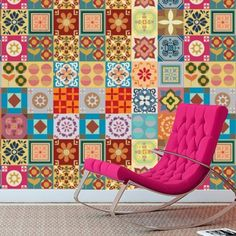 Tile Patchwork Stickers (Pack of 49)