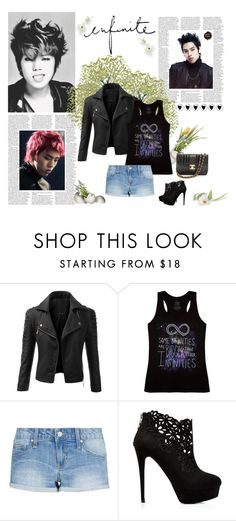 """""""myungsoo has the best ass"""" by ohmykaisis ❤ liked on Polyvore featuring Doublju, MANGO, Forever New and Chanel"""