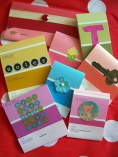 mini notepads from color samples