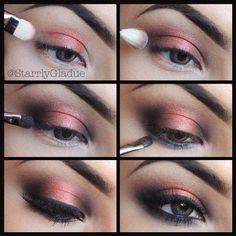 Coppering Smokey Eye Pictorial #eye  #makeup