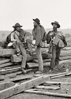 Confederate soldiers captured at Gettysburg, photographed by Matthew Brady (1863)
