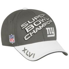 715a6a4b36e NFL New York Giants Super Bowl XLVI Champions Official Locker Room Hat