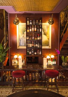 You'll feel transported to a Victorian scientist's den when you step foot in the Natural Philosopher. Antiques, an Oriental rug, exposed bulbs, and a profusion of plants combine to give this hidden bar a warm, turn-of-the-century vibe. 489 Hackney Road; thenatural-philosopher.com