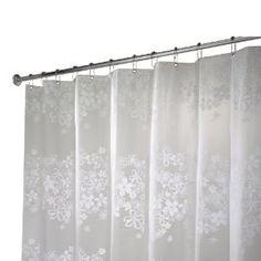 Interdesign Fiore Eva Long Shower Curtain White 72 Inches X 84