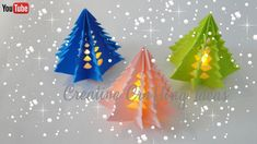 Christmas Tree With Paper   3D Paper Christmas Tree   DIY Christmas Tree Diy Paper Christmas Tree, Christmas Arts And Crafts, How To Make Christmas Tree, Christmas Origami, Diy Christmas Gifts, Xmas Tree, Christmas Tree Decorations, Christmas Tree Ornaments, Felt Christmas