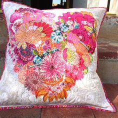 MarveLes Art Studios: pillow collage design love ~
