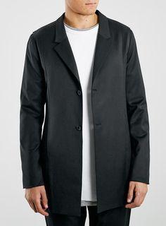 Street Tailor Black Duster Coat