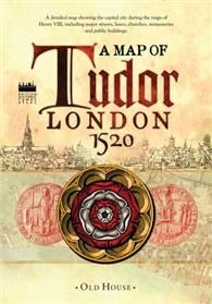 The capital city c.1520 during the reign of Henry VIII showing major streets, lanes, churches, great houses, monasteries and public buildings. This map reveals medieval London at its most impressive, before the city was overwhelmed by a massive population explosion.