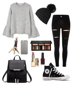 Going to the mall by elsiie-lama on Polyvore featuring polyvore, fashion, style, MANGO, River Island, Converse, Black, Native Union, Kat Von D, Clarins, Zimmermann and clothing
