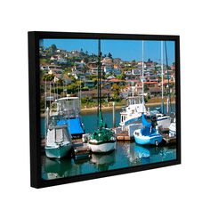 Point Loma, San Diego by George Zucconi Floater-Framed Painting Print on Gallery-Wrapped Canvas