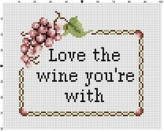 Love the Wine Youre With! If you cant be with the wine you love.....love the wine youre with!! Modern cross stitch pattern is designed on 14 count Aida. It will run about 5x7 and will look awesome in an 8x10 frame with a matter, or a 5x7 frame. This pattern will come with 2 different sized full colour patterns, for printing or viewing convenience, and a handy little tips and tricks printout to help you in your quest for cross stitching awesomeness. THIS IS NOT A PHYSICAL PATTERN. THIS…