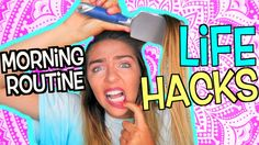 LIFE HACKS : School Morning Routine! How To Be A Morning Person! Nichole...
