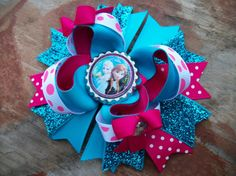 Disney's Frozen Inspired 5 inch Stacked Boutique by BethsAddABow, $6.99