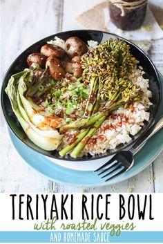 Easy Teriyaki Rice Bowl with Roasted Vegetables | www.veggiesdontbite.com | #vegan #plantbased #glutenfree #homemade #wholefoods