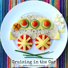 Cruising in the Car... Ideal for little ones & picky little eaters who love wheels! Made in under 3 minutes it's easily adjusted for allergies & favourite tastes.  step by step guide & other inspirations in bio link & below #healthykids #healthyfood #healthy #toddler #kids #familyfirst #toddlerlife #toddlerfoodideas #kidsfoodideas #delicious