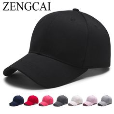 ZENGCAI 2017 New Candy Color Baseball Cap Fashion Spring Summer Canvas Snapback Caps Women Men Leisure Travel Mountaineering Hat