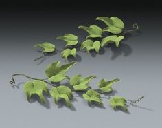 6 Ivy Green Leave in Gum Paste for Weddings by AllAmericanElegance