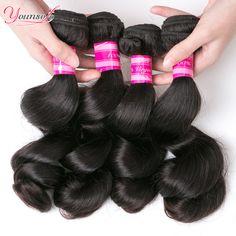 Malaysian Virgin Hair Loose Wave 7A Unprocessed Virgin Hair Malaysian Virgin Hair 4 Bundles Malaysian Loose Wave 100% Human Hair ** Ini pin AliExpress affiliate.  Informasi lengkap dapat ditemukan dengan mengklik gambar