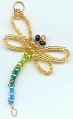 Beaded dragonfly craft. Craft ideas from LC.Pandahall.com