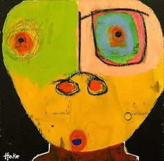 GOOD-VIBRATIONS-Hoke-Outsider-RAW-Folk-Abstract-Art-Brut-Painting-vISIONARY