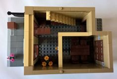 Law Offices of Dewey, Cheetum & Howe :: My LEGO creations. An office building with a conference room, three individual offices, and two private balconies. Lego Office, Lego Creations, Offices, Law, Bricks, Building, Furniture, Home Decor, Decoration Home