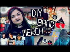 DIY BAND MERCH! T-Shirts, Band Bracelets, Chokers - YouTube do it yourself band merchandise hot topic punk rock heavy metal Pierce the veil asking Alexandria teen teens rocker chick falling in reverse sleeping with sirens we came as Romans bring me the horizon tee t shirts bracelet earrings leather jackets clothing clothes project do it yourself makeover Vic Fuentes beartooth band of mice and men kellin Quinn rockstar choker charms stinky dinks