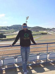 """#RetoJerez.    Juan    Enviada a Facebook (@JerezEsCapitalMundialdelMotociclismo)    """"En el Circuito""""    #JerezesMotor"""