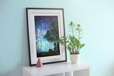 Digital Art Print  Waiting for the night  Night Sky Aurora