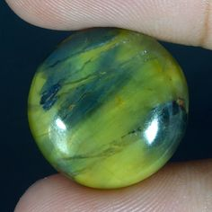 19.25Cts. 100% NATURAL NELLITE Cabochon Loose Gemstone BRILLIANT ROUND SHAPE 951 #Handmade