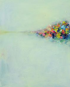 Abstract Landscape #3 oil painting by Yangyang Pan, via Flickr ...BTW,Please Check this out: artcaffeine.imobi...