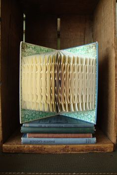 Old book: fold pages. No cuts.  No glue.  Beautiful!