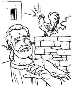 simon peter coloring pages - photo#28