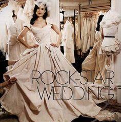 Dita Von Teese in Vivienne Westwood bridal gown