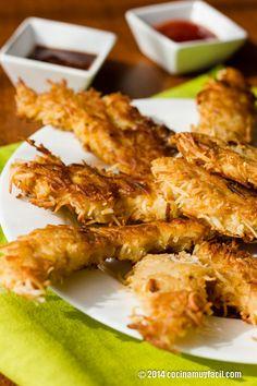 Receta de croquetas de pollo y coco. Con fotografías, consejos y sugerencias de degustación. Recetas de pollo