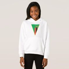 Zambia Flag Triangle Girls Hoodie - girl gifts special unique diy gift idea