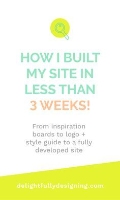 How I built my site in less than 3 weeks! | From Inspiration to fully developed website