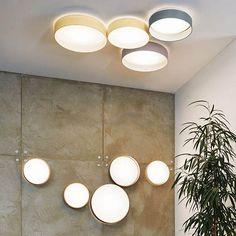 Licht-Trend ceiling light Palo LED ceiling or wall light with textile shade heimwerkeln Deko zu Haus deco at home Bedroom Lighting, Interior Lighting, Bedroom Lamps, Lighting Ideas, Ceiling Design, Lamp Design, Deco Led, Ideas Hogar, Diy Fireplace