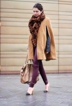 awesome 71 Trendy Winter Outfit with Cape https://attirepin.com/2017/12/02/71-trendy-winter-outfit-cape/